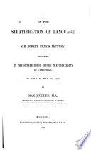 On the Stratification of Language