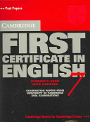 Cambridge First Certificate in English 7 Student's Book with Answers