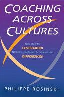 Coaching Across Cultures Book PDF