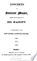 Concerts of antient music