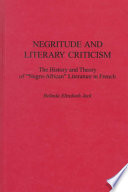 Negritude and Literary Criticism
