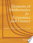 Elements of Mathematics for Economics and Finance Book