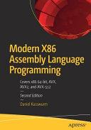 Modern X86 Assembly Language Programming Book