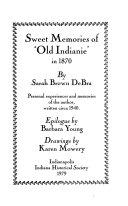 Sweet Memories of 'Old Indianie' in 1870