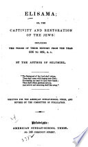 Elisama; Or, The Captivity and Restoration of the Jews