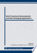 Multi Functional Nanomaterials and their Emerging Applications Book