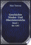 Geschichte Nieder- Und Ober?sterreichs