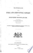 Materials for a Rural and Agricultural Glossary of the Northwestern Provinces and Oudh