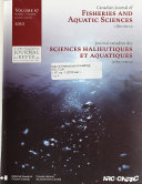 Canadian Journal Of Fisheries And Aquatic Sciences Book PDF