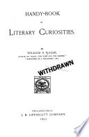 Handy book of Literary Curiosities