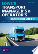 Lowe s Transport Manager s and Operator s Handbook 2019