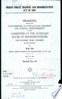 Prison Inmate Training and Rehabilitation Act of 1993