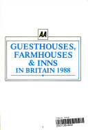 AA Bed and Breakfast in Britain 1988