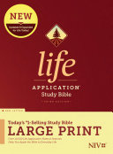 NIV Life Application Study Bible  Third Edition  Large Print  Red Letter  Hardcover