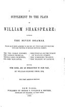 A Supplement to the Plays of William Shakespeare