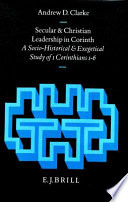 Secular and Christian Leadership in Corinth Book
