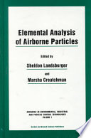 Elemental Analysis of Airborne Particles Book