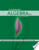 Intermediate Algebra  A Guided Approach