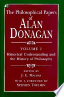 The Philosophical Papers of Alan Donagan, Volume 1
