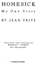 Homesick My Own Story Jean Fritz Google Books
