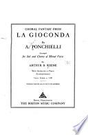 Choral Fantasy from La Gioconda