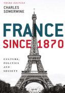 Pdf France since 1870 Telecharger