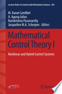 Mathematical Control Theory I Book