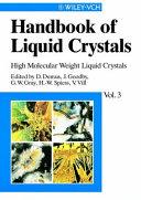 Handbook of Liquid Crystals, High Molecular Weight Liquid Crystals