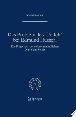 Download Das Problem des ,Ur-Ich' bei Edmund Husserl Books - RDFBooks