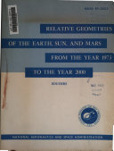 Relative Geometries of the Earth  Sun  and Mars from the Year 1973 to the Year 2000