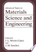 Advanced Topics in Materials Science and Engineering Book