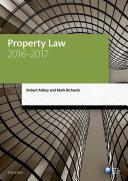 Property Law 2016-2017