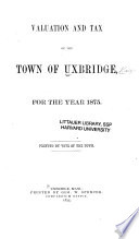 Valuation of the Town of Uxbridge for the Year