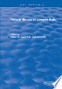 Natural History of Vampire Bats Book