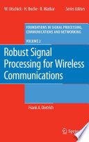 Robust Signal Processing For Wireless Communications Book PDF