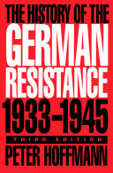Pdf History of the German Resistance, 1933-1945
