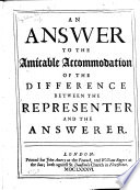 An Answer to the Amicable Accommodation of the Difference Between the Representer and the Answerer