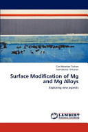 Surface Modification of Mg and Mg Alloys