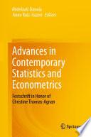 Advances in Contemporary Statistics and Econometrics