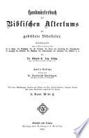 Handwörterbuch des biblischen Altertums für gebildete Bibelleser