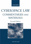 Cover of Cyberspace Law