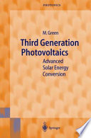 Third Generation Photovoltaics Book PDF