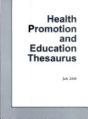 Health Promotion and Education Thesaurus
