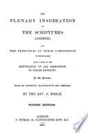 The Plenary Inspiration of the Scriptures Asserted     Fourth Edition