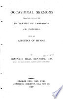 Occasional Sermons Preached Before the University of Cambridge and Elsewhere Book