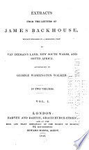 Extracts from the Letters of James Backhouse Book PDF
