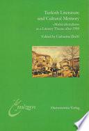 Turkish Literature And Cultural Memory