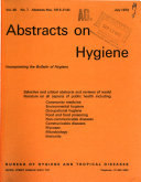 Abstracts on Hygiene and Communicable Diseases Book