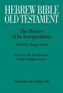 Hebrew Bible   Old Testament  The History of Its Interpretation