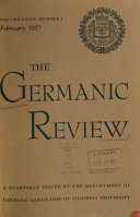 The Germanic Review